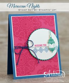 nice people STAMP!: Moroccan Nights & Thoughtful Banners Cards: Stampin' Up! Artisan Blog Hop
