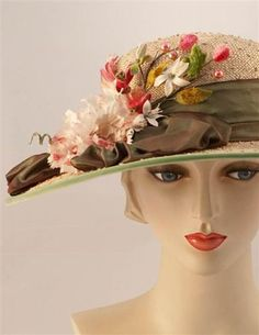 Louise Green BellaDonna Boater Hat  ||  The perfect Easter Bonnet.