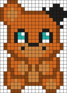 Freddy Plushie Perler Bead Pattern / Bead Sprite
