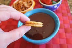 My parents gave me a fondue pot for Christmas.) I've been having a great time trying out recipes for it, and have been through several versions of chocolate fondue i… Easy Chocolate Fondue Recipe, Fondue Recipes, Favorite Recipes, Cooking, Desserts, Food, Kitchen, Tailgate Desserts, Deserts