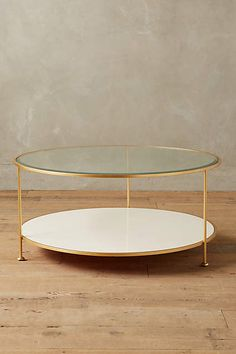 Lacquered Round Coffee Table - anthropologie.com