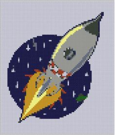 Rocket 4 Cross Stitch Pattern