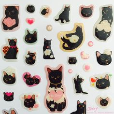 Shop premium fashion and gifts featuring the dreamy-eyed Choo Choo Cats of Jetoy. Great gifts for cat lovers, including beautiful stationery and planners. Cat Lover Gifts, Cat Gifts, Cat Lovers, Love Stickers, Cat Stickers, Usa Tumblr, Cat Art, Black Cats, Stationery