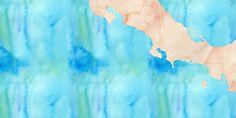 Costa Rica watercolor 2,000 x 1,000px 8.3525, -84.8255