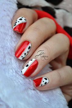 Kakine Nail Art: Manucure Cruella d'Enfer