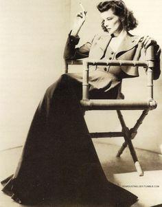 *Katharine Hepburn portrait by George Hoyningen-Huene in 1940