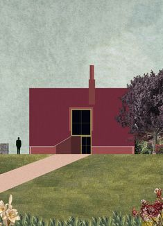 Echoing the topography of the surrounding area, the house's material palette will comprise red-brown brick on the front and side facades, contrasting with chalk-white bricks on the garden elevation. Extravagant Homes, House Illustration, Illustrations, Architecture Visualization, Front Elevation, Vignettes, Holland, Facade, House Design