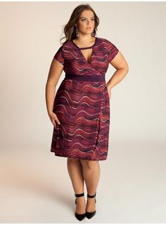 Plus Size Dress Plus Size Fashion Plus Size Clothing at www.curvaliciousclothes.com #plussize #fashion Madison Dress is a modern interpretation of psychedelic funk with its inspired print on an updated silhouette. Wear it to work, day lunch, or out for cocktails. With the right styling this is a throw-on-and-go kinda piece.