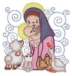 jesus embroidery | Nativity Mary And...