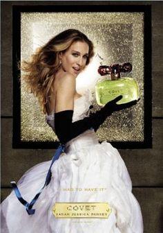 Perfume ads   mylusciouslife.com   SJP Covet perfume ad Know your fashion history: Perfume perfection