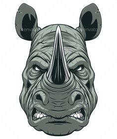 Buy Ferocious Rhinoceros by on GraphicRiver. Vector graphics Install any size without loss of quality. ZIP archive contains: -file -file JPEG; Cartoon Silhouette, Graffiti Art, Rhino Art, African Tattoo, Military Drawings, Animal Sketches, Vector Art, Vector Graphics, Creative Art