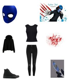 Eyeless Jack by mindless-behavior-girl-at on Polyvore featuring polyvore fashion style T By Alexander Wang River Island Converse clothing