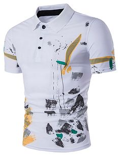 Laamei Men Polo Shirt Casual Short Sleeve Male Cotton Polo Shirt Print Slim Fit Camisa Polo Shirt New Summer Male Clothes 2018 Mens Tee Shirts, Casual T Shirts, Cool T Shirts, Camisa Polo, Clothes 2018, Printed Polo Shirts, Slim Fit Polo, Mv Agusta, Spring Shirts