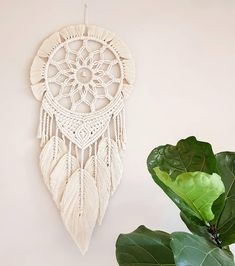 Cotton macrame wall ornaments on pulley, . - Cotton macrame wall ornaments on pulley, – - Macrame Design, Macrame Art, Macrame Projects, Macrame Knots, Macrame Mirror, Macrame Curtain, Macrame Wall Hanging Patterns, Macrame Patterns, Diy Macramé Suspension