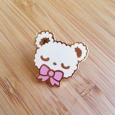 CREAM Sleepy Bear Enamel Pin by uglyplants on Etsy