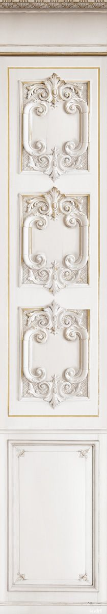 French Architectural Detail Trompe l'oeil Wallpaper by Christophe Koziel. Made in France.