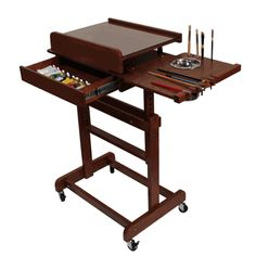 Art Apprentice Online - Craftech Rolling Table - The perfect painting table, $238.00 (http://store.artapprenticeonline.com/craftech-rolling-table-the-perfect-painting-table/)