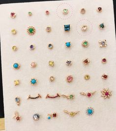 Twist frame gemstone stud in solid 14k gold! #earpiercings #cartilagepiercing #gemstonestud #gemstoneearring #gemstone