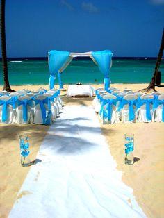 A's turquoise wedding ceremony - Majestic Elegance Punta Cana, DR...Punta Cana!!!