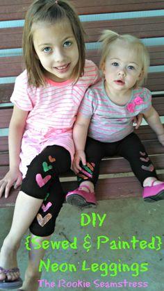 Neon Leggings DIY!!!