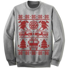 Firefighter Gift. Firefighter Shirt Ugly Christmas Sweater. Funny Firefighter Adult Unisex