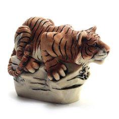 Harmony Kingdom Leaps And Bounds Version II - Tiger Box Figurine