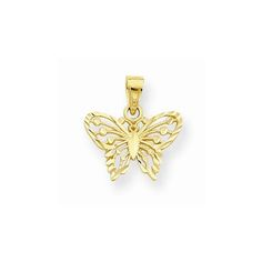NEW-SOLID-10K-GOLD-DIAMOND-CUT-BUTTERFLY-CHARM-PENDANT-FOR-NECKLACE-70-X-60