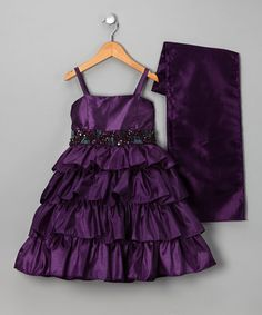 @Alison Marvel: Take a look at this Plum Tiered Dress & Shawl - Girls by Sophia Young on #zulily today!    Lily