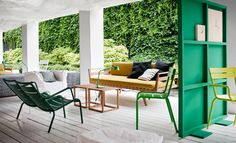 Check out Studiopepe's fabulous and removable green wall dividers that could really come in handy all around the house. It adds a pop of color and helps separate what you need.