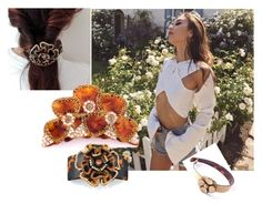 Floral mood! Great flower hair clips mcdavidian France. We love hair! by shambalaparadise-21 on Polyvore featuring мода