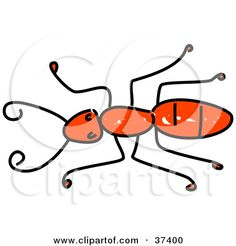 Cartoon Ant Tattoos | Royalty-Free (RF) Clipart of Red Ants, Illustrations, Vector Graphics ...