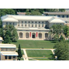 Carnegie Mellon University's College of Fine Arts viewed from the 37th floor of the Cathedral of Learning