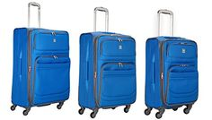 Delsey Luggage DLite 3 Piece Expandable Nested Spinner Luggage Set One Size Blue ** This is an Amazon Affiliate link. To view further for this item, visit the image link.
