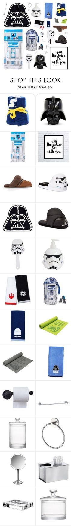 """Star Wars Bathroom"" by belenloperfido ❤ liked on Polyvore featuring interior, interiors, interior design, home, home decor, interior decorating, Jay Franco & Sons, UGG Australia, Bioworld and ThinkGeek"