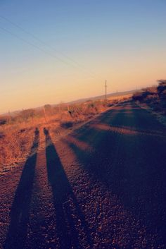 Tall, African sunrise shadows in Swaziland!