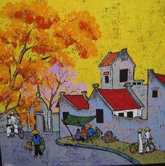 Vietnamese Art> Street 14 by Nghiem Xuan Quang