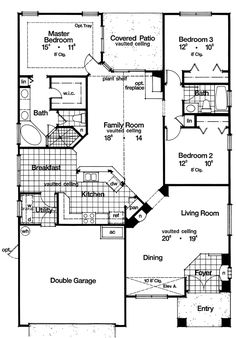 First Floor Plan image of Featured House Plan: BHG - 8905