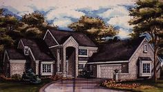 Eplans New American House Plan - Three Bedroom New American - 2321 Square Feet and 3 Bedrooms from Eplans - House Plan Code HWEPL56907