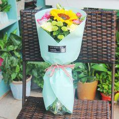 Корейский подарочная упаковка цветок круглых Бумага полупрозрачные Водонепроницаемый букет упаковки Бумага флорист украшения 10 шт./лот купить на AliExpress