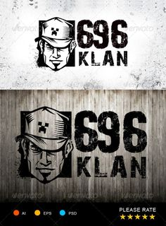 666 Klan Logo Template #GraphicRiver urban street logo, great for community, team, freestyle. include: 1 psd file with and without text png transparant graphic only(without text) ai file with and without text eps file with and without text FONT USED: 28 DAYS LATER: .dafont /28-days-later.font