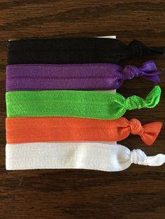 Halloween Hair Ties / Elastic Hair Ties / by SimplyKatsKreations