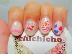 uñas decoradas dibujos conejo bonitas jovenes