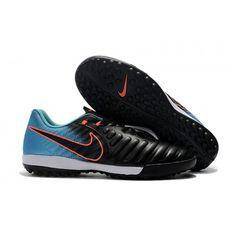 Nike TIEMPO LEGEND VII TF Botas de futbol Negro Azul Rojo