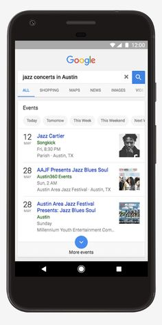 Google lance Search Events, une recherche d'événements aux Etats-Unis