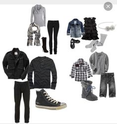 what to wear // family photos // black // white // gray Casual Family Photos, Family Pictures What To Wear, Summer Family Photos, Fall Family Pictures, Family Pics, Winter Photos, Holiday Photos, Family Picture Colors, Family Picture Outfits