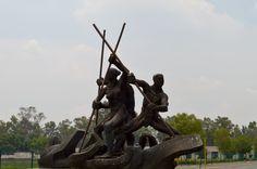 Monumento al remo. Pista Olímpica de remo Virgilio Uribe