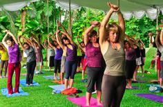 Yoga is a class of different asanas or postures, like triangle pose, downward dog and the warriors series. These different poses work the entire body using every muscle not only for gaining flexibility but for strength, endurance and balance. (1) Stress release A yoga class gives your mind a workout, as the participants work on staying in the present moment. Breath work helps with getting away from daily stresses, and letting go of those never-ending todo lists.Great way to cross train