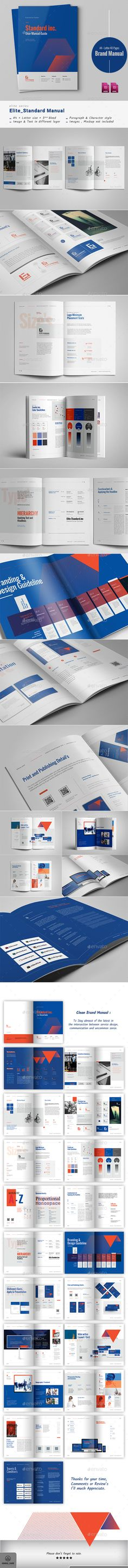 #Brand manual - #Corporate #Brochures Download here: https://graphicriver.net/item/brand-manual/20464199?ref=alena994