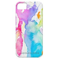 Watercolor Splash iPhone 6 Case By Megaflora Hipster Iphone Cases, Cool Iphone Cases, 5s Cases, Iphone Case Covers, Iphone 5s, Apple Iphone, Rainbow Birthday, Plastic Case, Watercolor