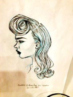 Bernice & Barclay  Runway Fall/Winter 2014/14 Hair Design by Sylvie The Loft Toronto